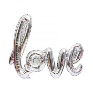 Воздушный шар-слово «Love», серый