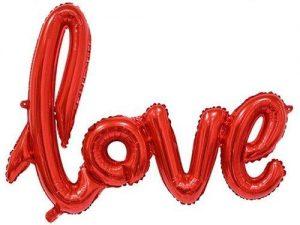 Воздушный шар-слово «Love», красный